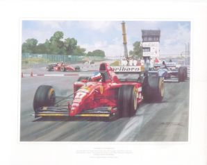 JEAN ALESI  Ferrari 1995 CANADIAN GP by MICHAEL TURNER